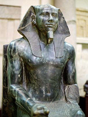 Statue of the pharaoh Khafre